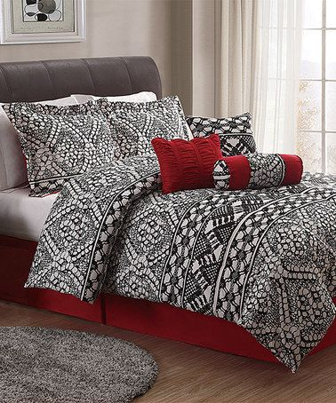 Look What I Found On Zulily Black White Lace Comforter Set