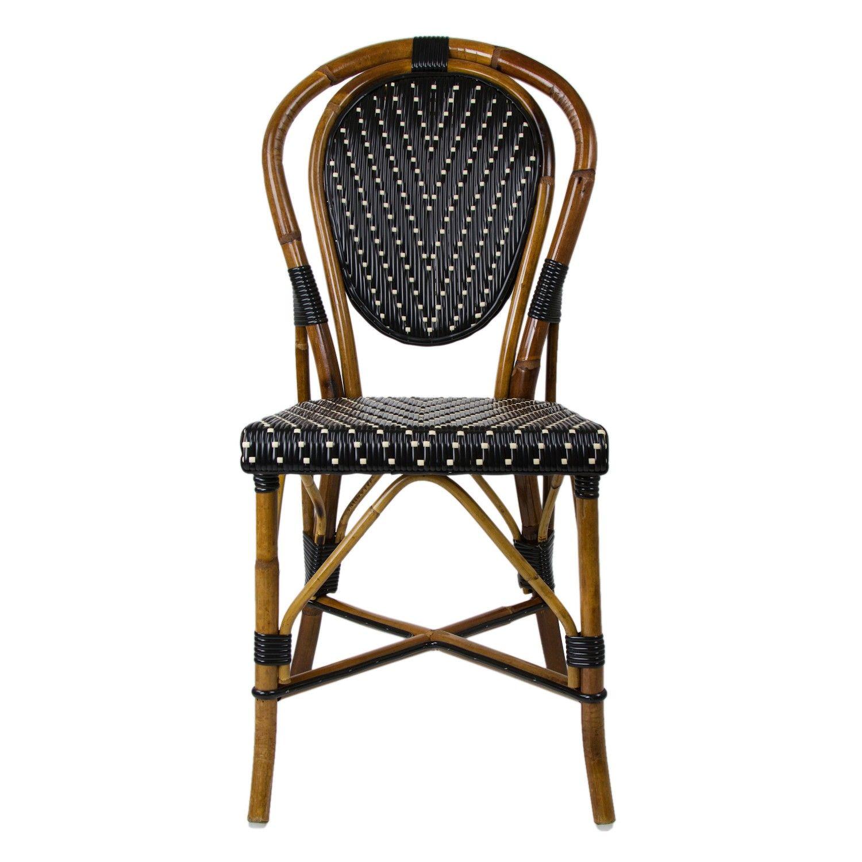 Black & Cream Mediterranean Bistro Chair $235