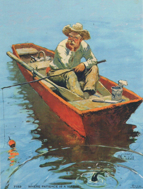 Открытка для деда рыбака
