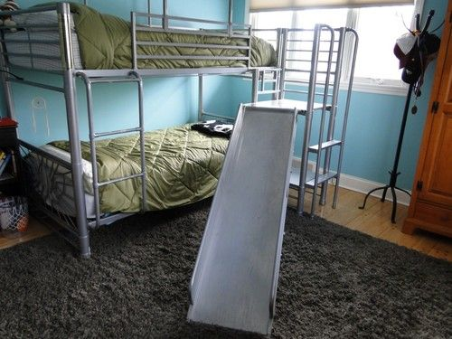 Bunk Bed With Sliding Board Ebay Bunk Beds Bed With Slide