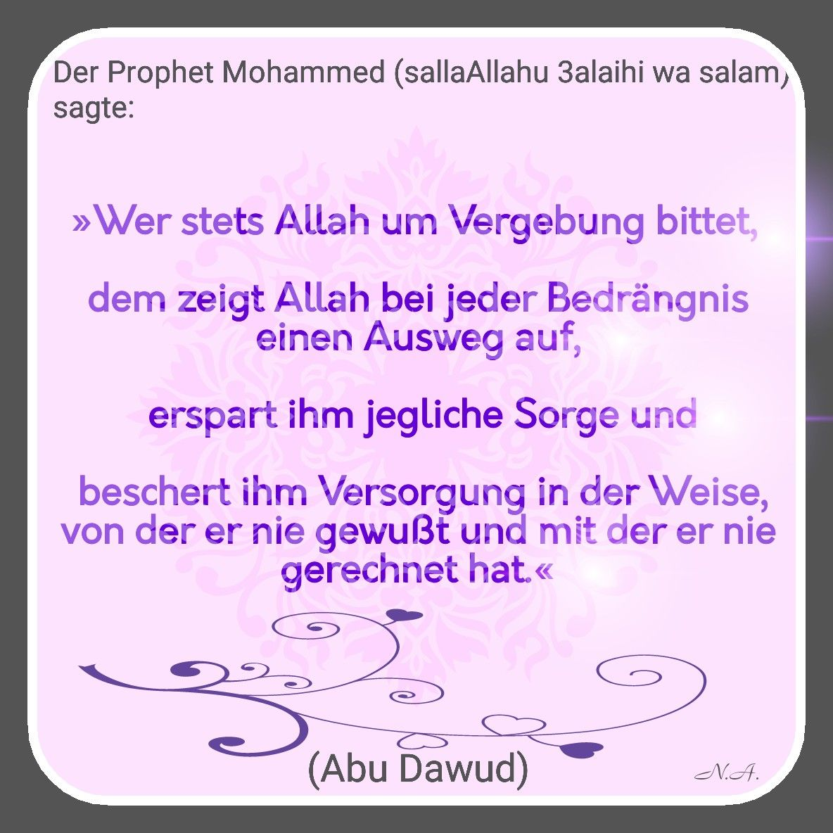 Allahs Vergebung   Um vergebung bitten, Vergebung, Der