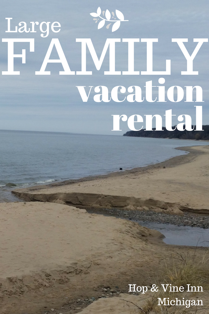 Large Family Vacation Rental In Michigan, Only 2 Miles