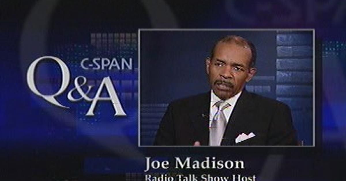 radio personality resume%0A Joe Madison talked about his life and current work as a radio talk show host  and