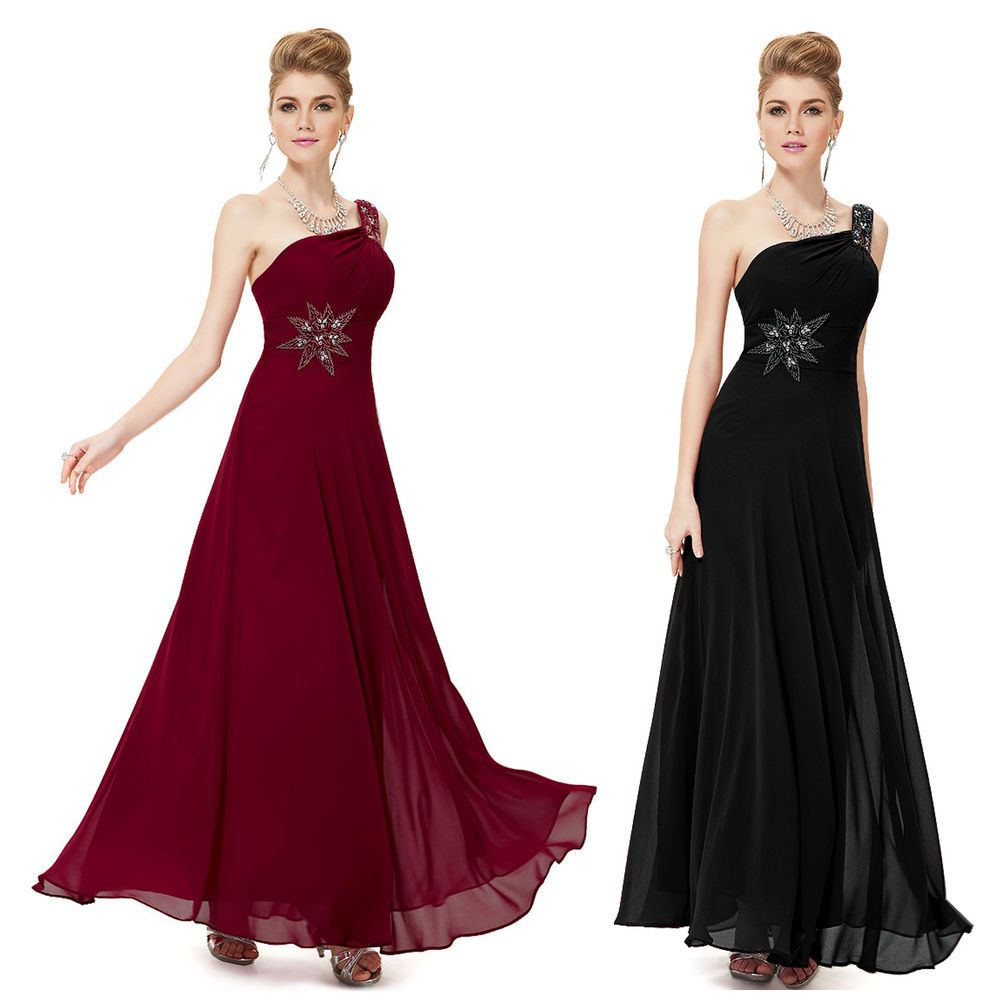 Womens One Shoulder Evening Bridesmaid Party Dresses 08079 Size 8 10 ...