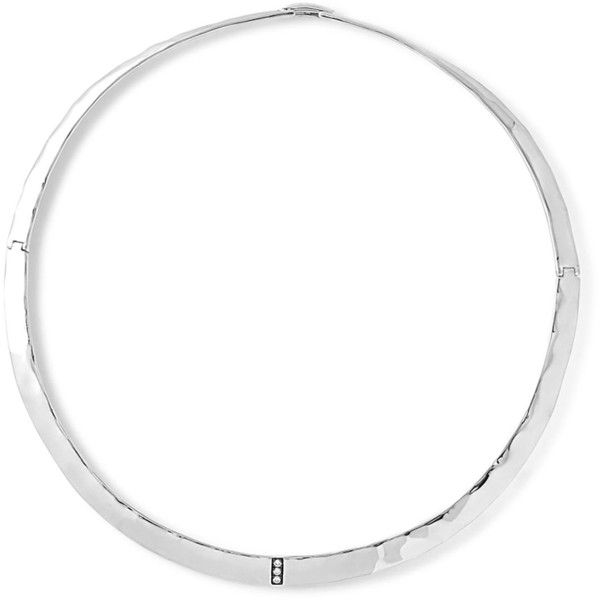 Ippolita Sterling Silver Senso& Collar Necklace with Diamonds ($1,495) ❤ liked on Polyvore featuring jewelry, necklaces, silver, pave jewelry, handcrafted jewelry, diamond collar necklace, collar jewelry and diamond jewellery