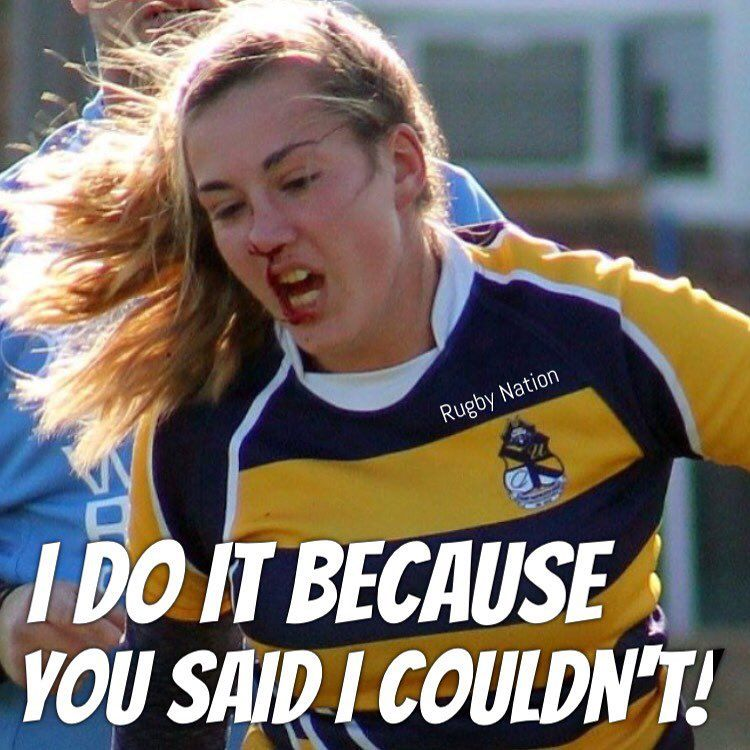 Rugbynation Com On Instagram Rugby I Do It Because You Said I Couldn T Comment If You Feel The Same Pic Credit At Inst Rugby Nations Rugby Quotes Rugby