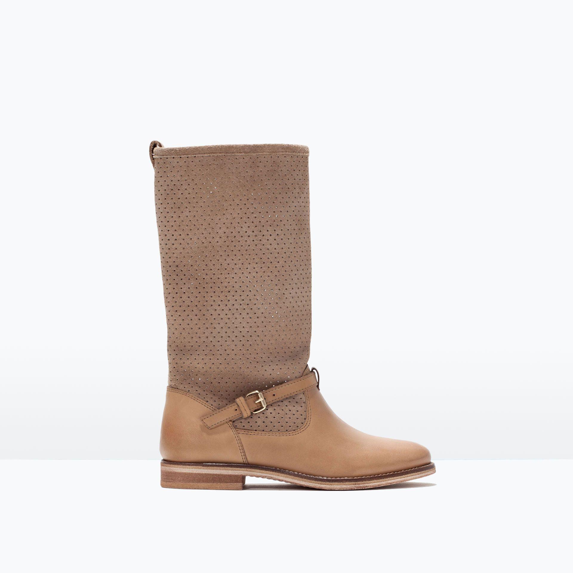 Azurowe Kozaczki Skorzane Buty Dziewczynka Obuwie I Torby Girls Shoes Girls Boots Boots