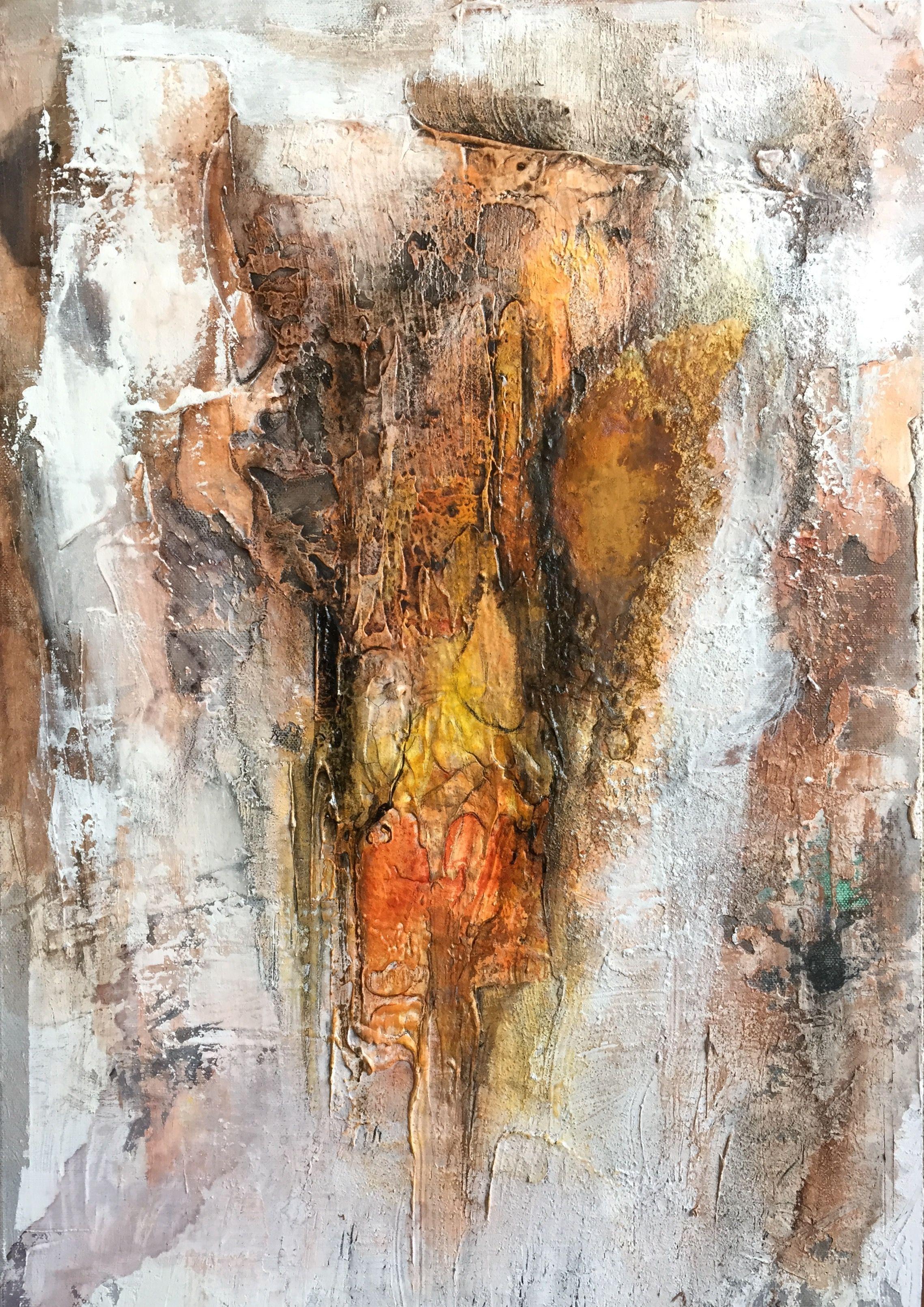 sabine richter mischtechnik auf leinwand 40x60 www sabinerichter at abstract art painting winterbilder posterdruck