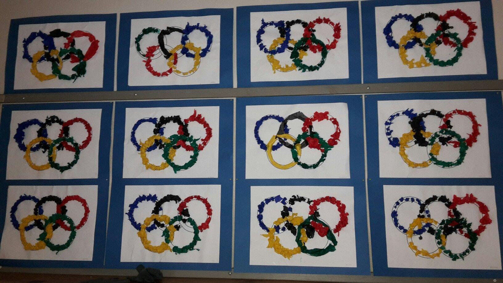Olympiarenkaat. Silkkipaperi.