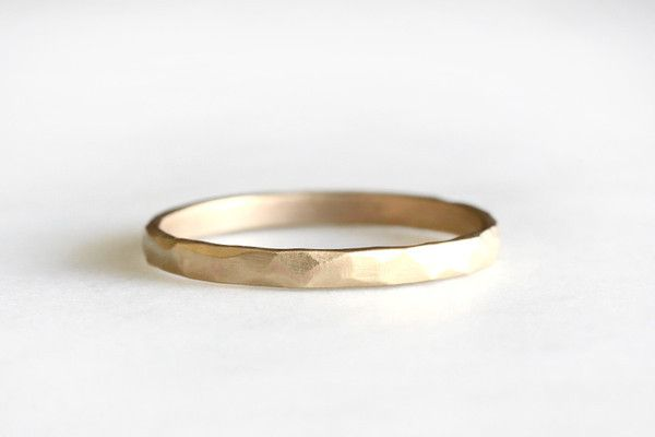14k rustic carved band