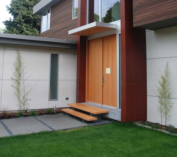 modern entrance stoop | The fir from the canopy door and stairs now tie : modern front door canopy - memphite.com