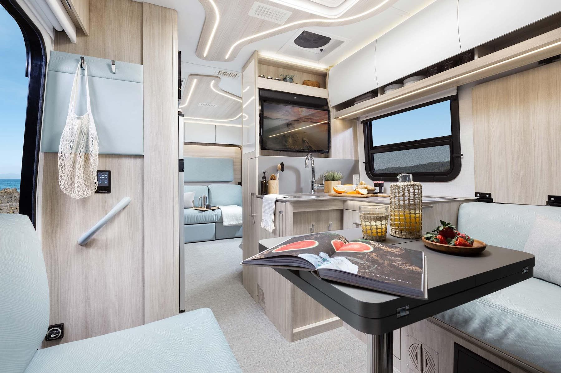 Unity Rear Lounge Leisure travel vans, Murphy bed