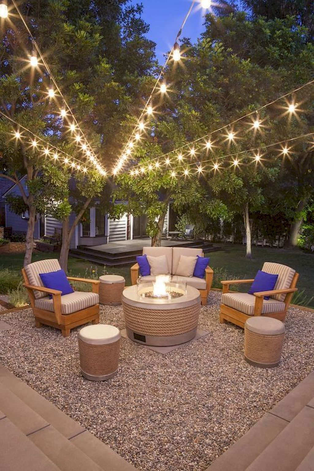 02 Summery DIY Backyard Projects Ideas to Mesmerizing Your Summer is part of Fire pit backyard, Backyard fire, Diy backyard, Backyard lighting, Backyard diy projects, Backyard - 02 Summery DIY Backyard Projects Ideas to Mesmerizing Your Summer