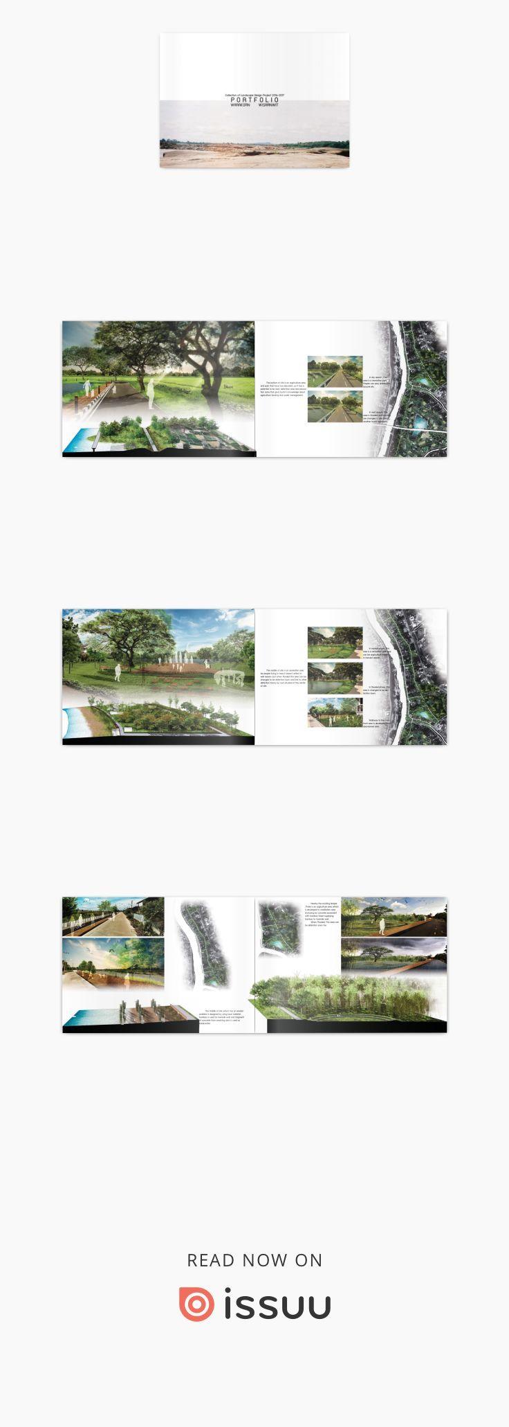 Landscape Architecture Portfolio Warakorn Landscape Architecture Portfolio Landscape Architecture Design Architecture Portfolio