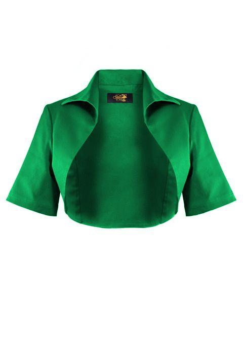1950s Bolero Jacket - Emerald | Fasion | Pinterest | Schnittmuster