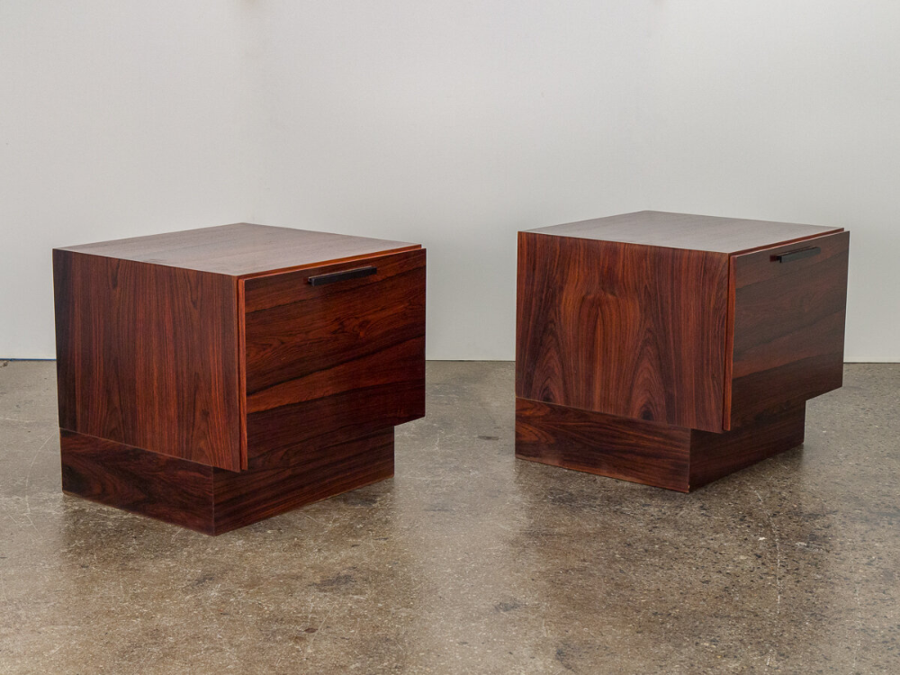 Ib Kofod-Larsen Rosewood End Tables — OAM
