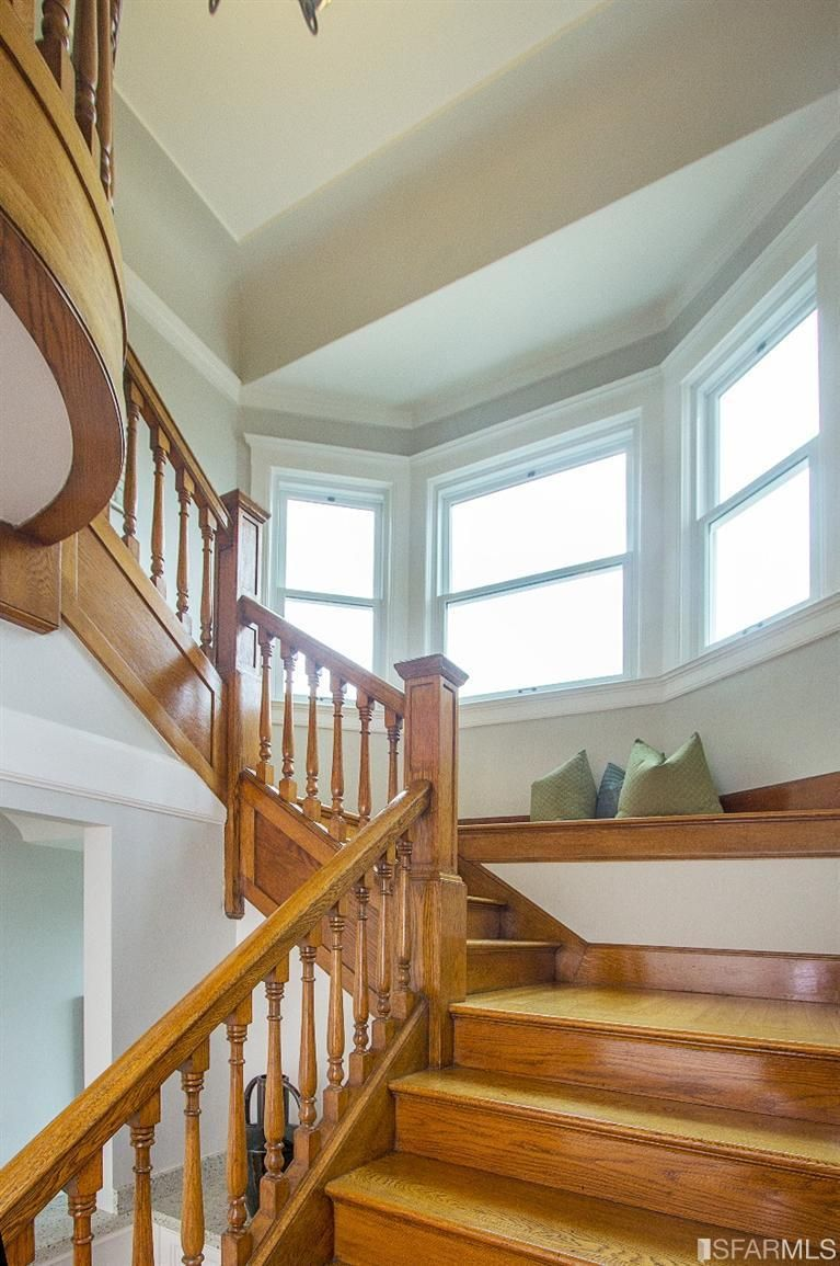 Another angle of the 1924 staircase. 285 Castenada Ave, San Francisco, CA 94116 (MLS #433427) #FoundOnRedfin