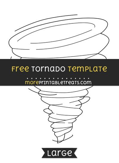 Free Tornado Template - Large | Shapes and Templates Printables ...