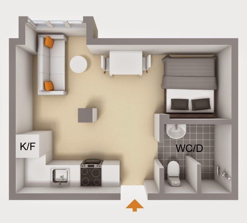 Studio De 20 Metros Quadrados De Cair O Queixo