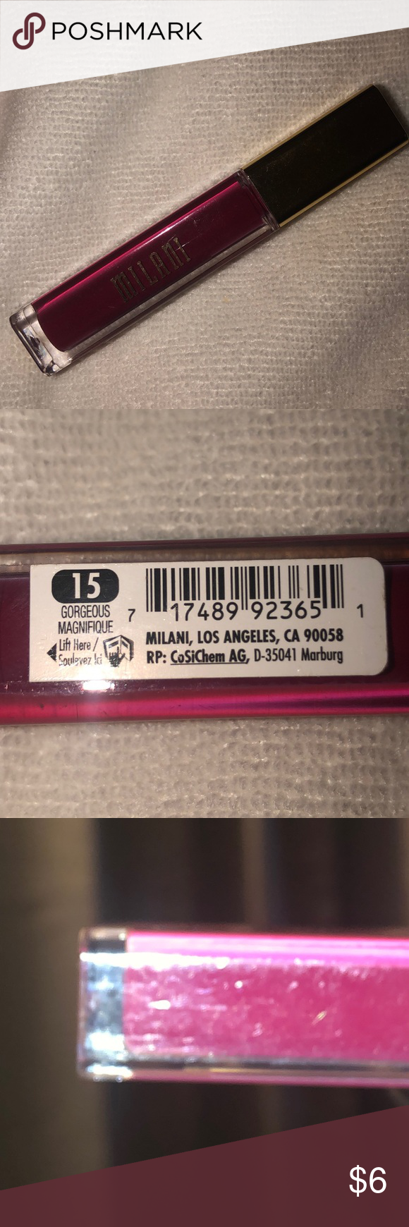 Milani Amore Matte Lip Creme Color: 15 Gorgeous (fuchsia)  Opened, never used Milani Makeup Lipstick