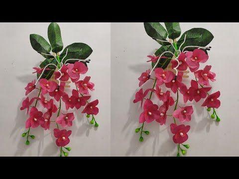 Cara Membuat Bunga Anggrek Gantung Dari Plastik Kresek How To Make Hanging Orchids From Plastic Bag Youtube Di 2020 Bunga Buatan Sendiri Bunga Pola Bunga