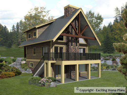 Sierra Cabin Plan Cottage Plan Stilt Houses