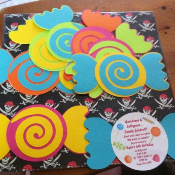 tarjeta de invitacin para cumpleaos de caramelos