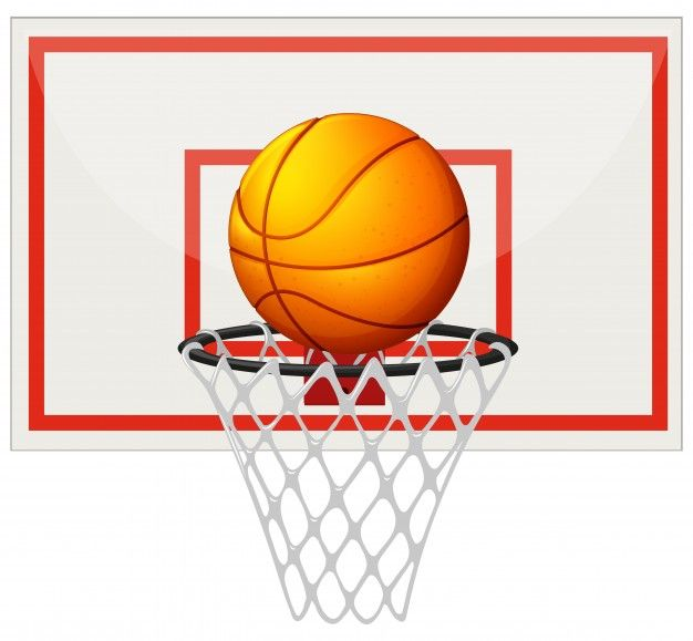 Download Basketball With Basketball Board And Net Illustration For Free Basketball Wallpaper Basketball Basketball Clothes