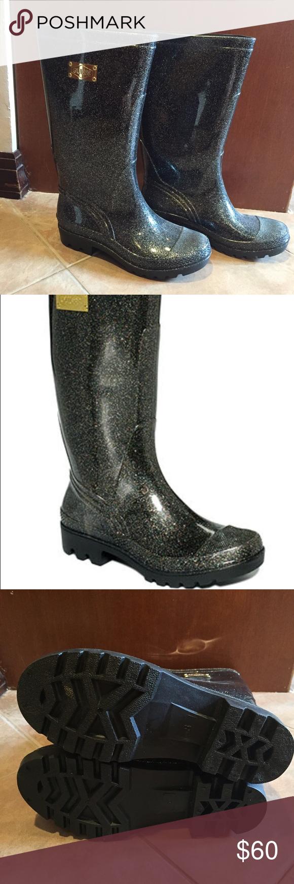 Guess glitter sparkle rain boots. Size