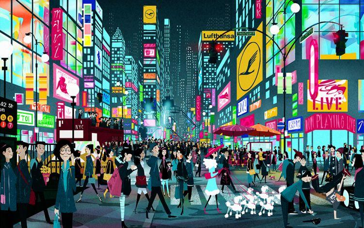 紐約  [網路行銷] 14天14張插圖,遊覽世界。尋找漢莎在哪裡? - ㄇㄞˋ點子靈感創意誌