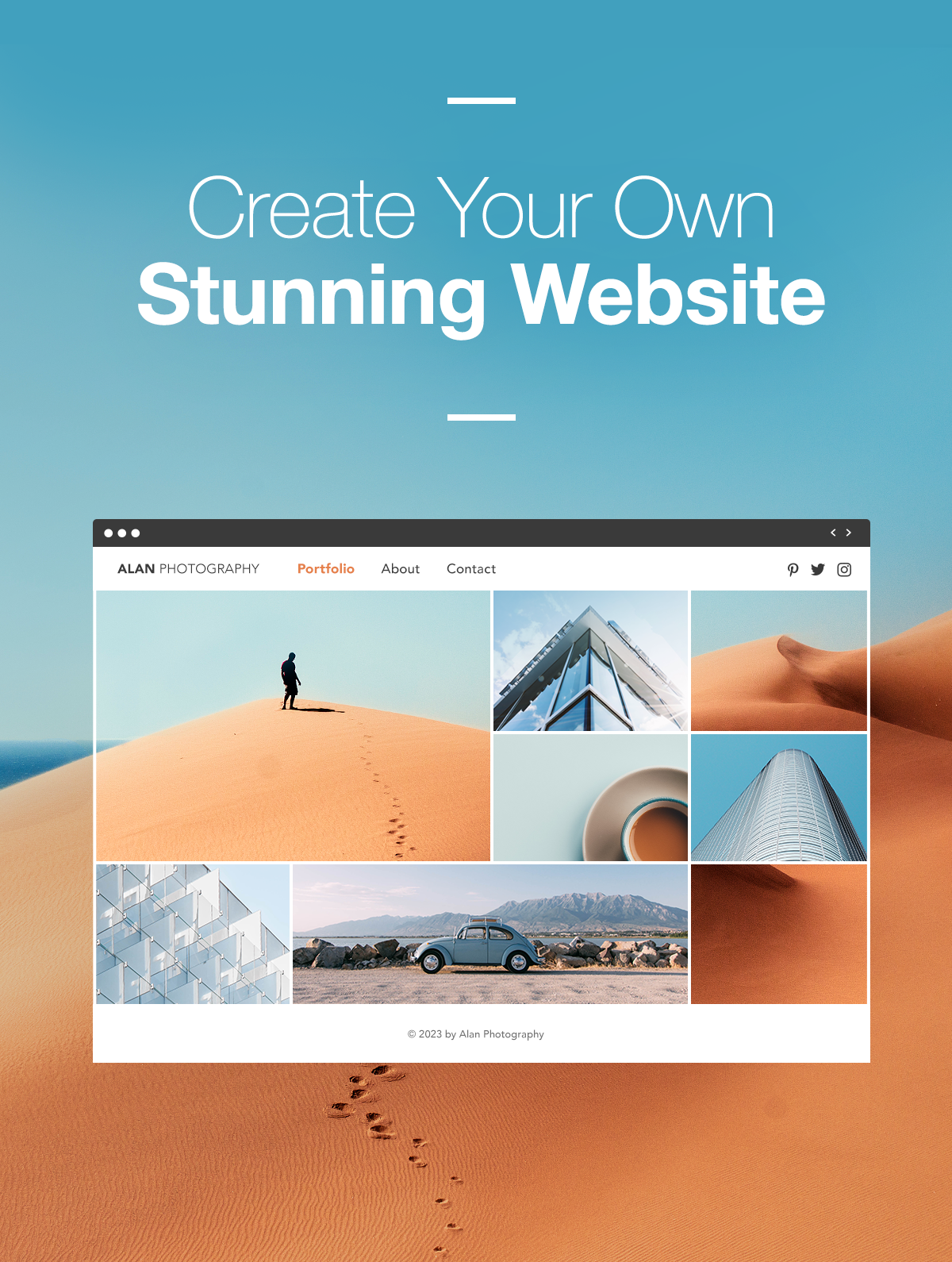You can create your own professional website just like
