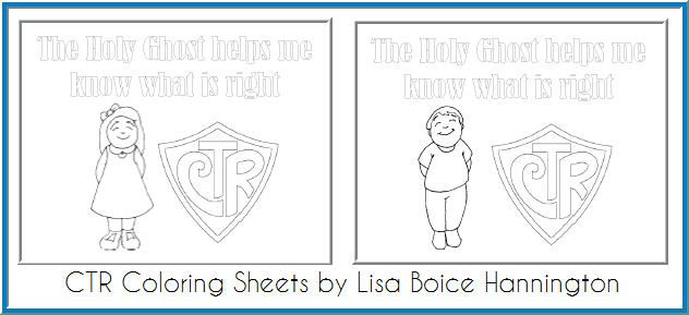 Ctr Coloring Sheets Sunbeams Holy Ghost Lds Coloring Pages