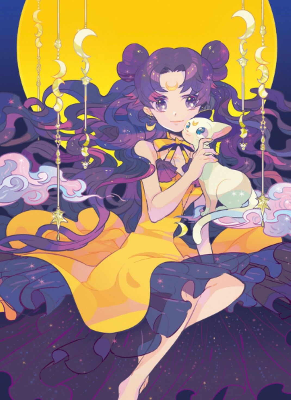 Human Luna And Cat Artemis Sailor Moon Luna Sailor Moon