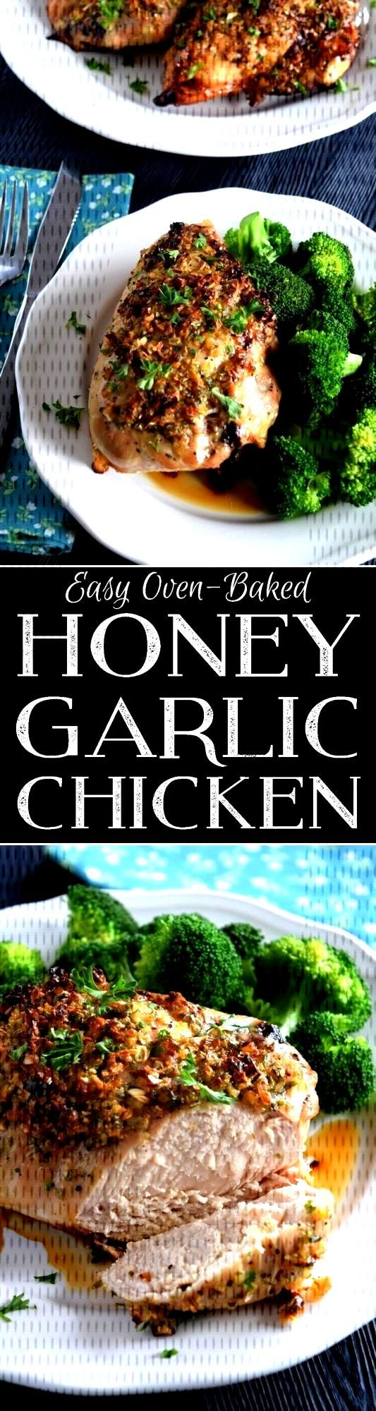 Easy Oven Baked Honey Garlic Chicken - Lord Byrons Kitchen -