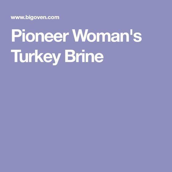 Pioneer Woman's Turkey Brine