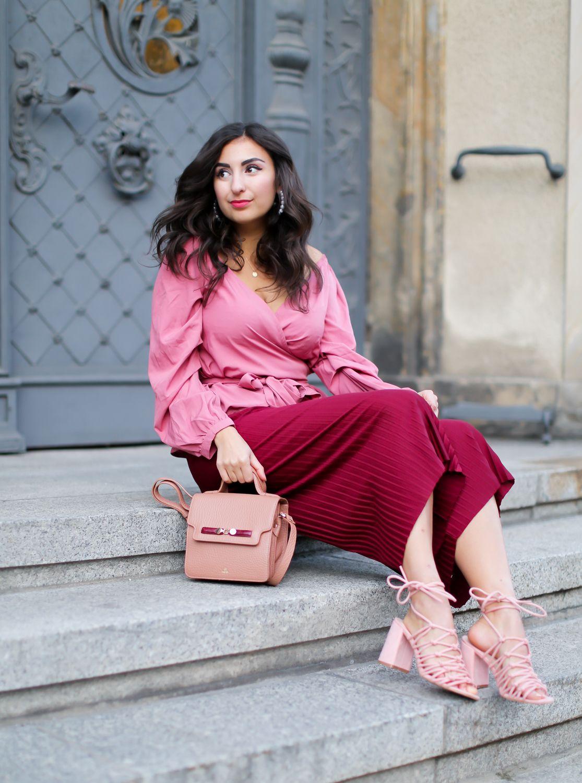 Pink Wrap Blouse - Fashion Blog Berlin