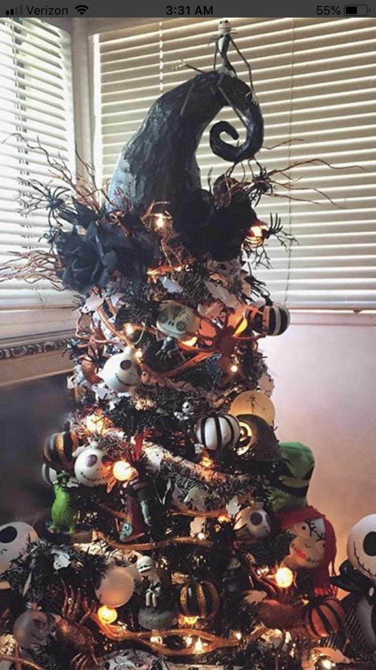 Nightmare Before Christmas Tree Blackchristmastreeideas Nightmare Before Christmas Tree Halloween Christmas Tree Nightmare Before Christmas Decorations