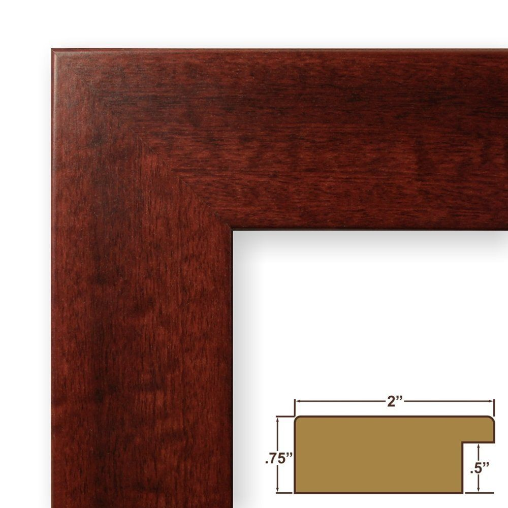 12 by 16-Inch Rustic Photo Frame, Smooth Grain Finish, 2-Inch Wide, Dark Brown