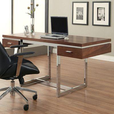 Brayden Studio Depew Writing Desk Finish Office Desk Pastel
