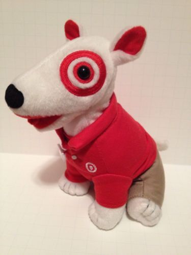 Target Bullseye Dog Plush Toy Stuffed Animal Bull Terrier Employee