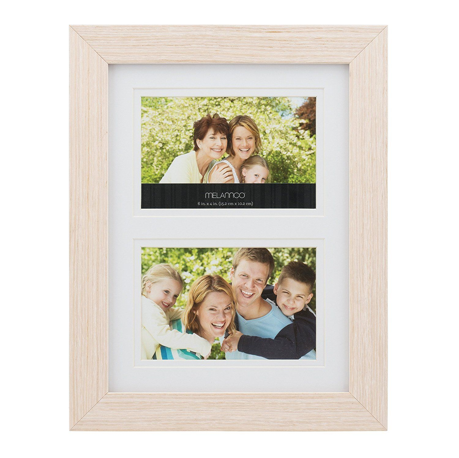 Melannco 2-Opening Natural Wood Frame, 10-Inch-by-13-Inch ...