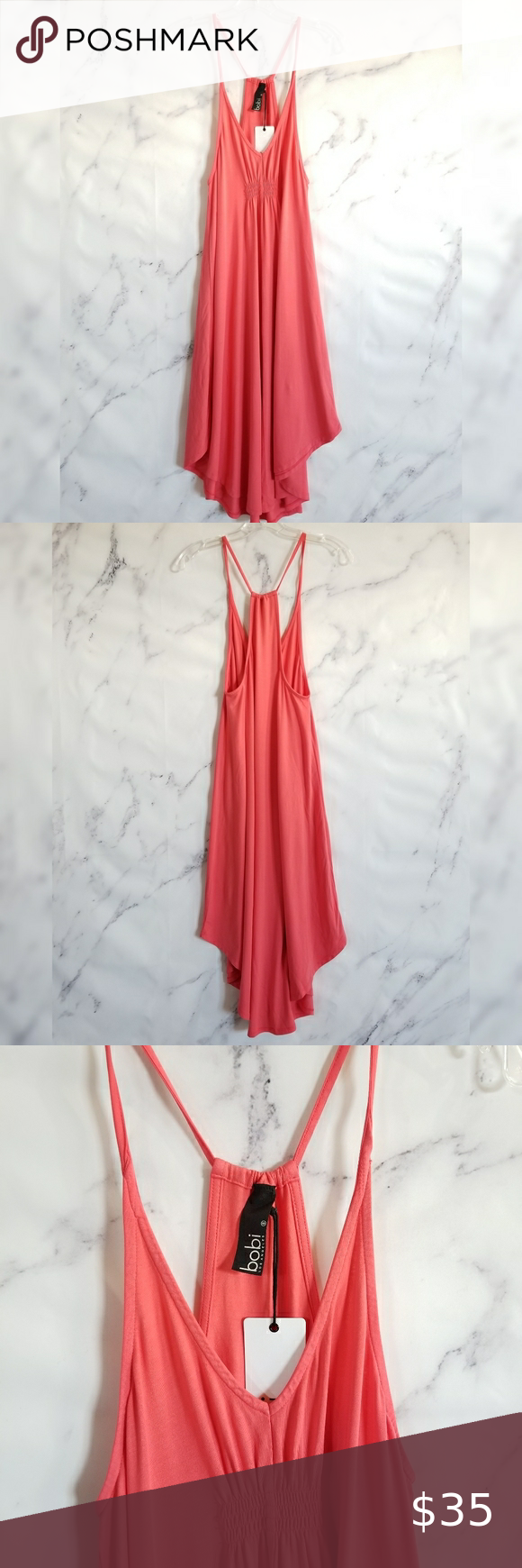 Bobi La Spaghetti Strap Racerback Midi Dress In 2020 Racerback Midi Dress Racerback Maxi Dress Clothes Design [ 1740 x 580 Pixel ]