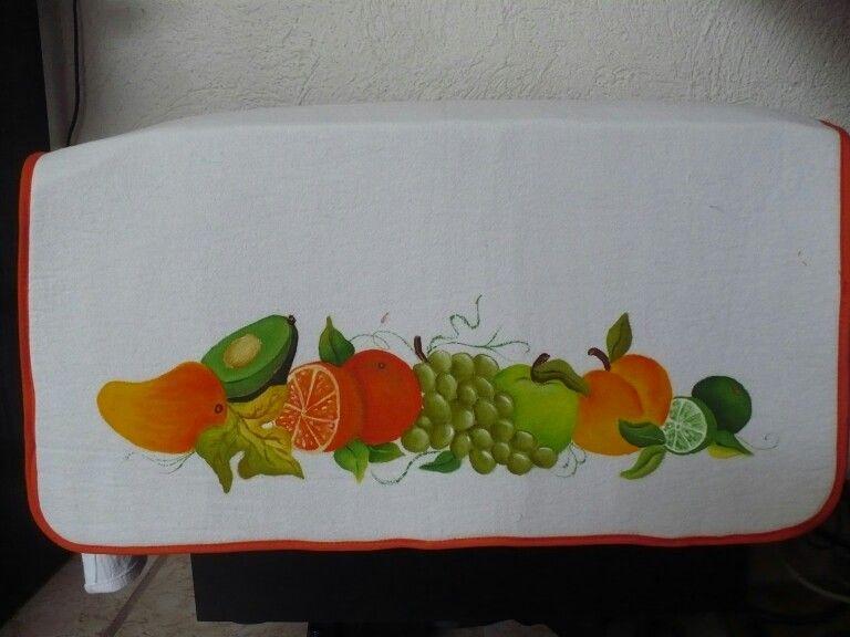 Funda para microondas frutal naranja Personalizada para