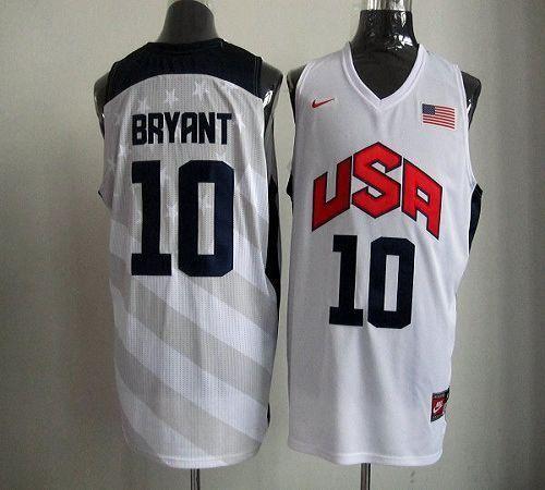 67c0bede3 Nike 2012 Olympics Team USA  10 Kobe Bryant White Stitched NBA Jersey