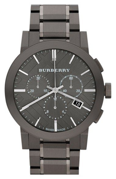 Burberry large chronograph bracelet watch 42mm regular retail price 895 available at for Retail price watches