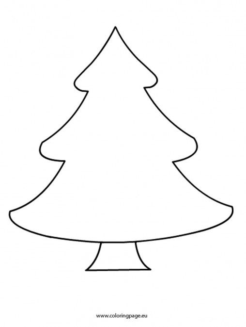 Christmas Coloring Page Christmas Tree Printable Christmas Tree Coloring Page Christmas Tree Template