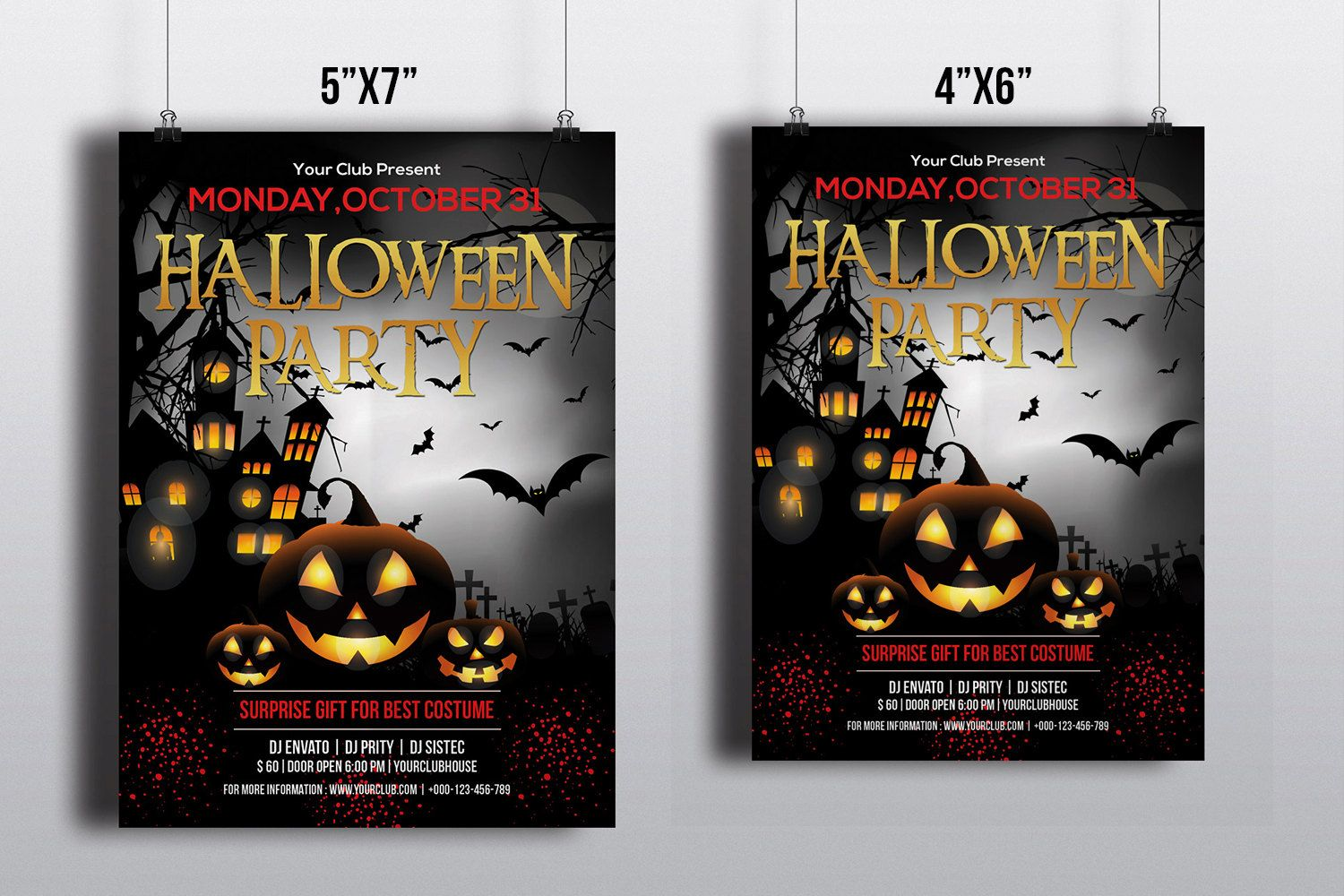 Halloween Party Flyer Template Printable Halloween Party - Party invitation template: halloween costume party flyer