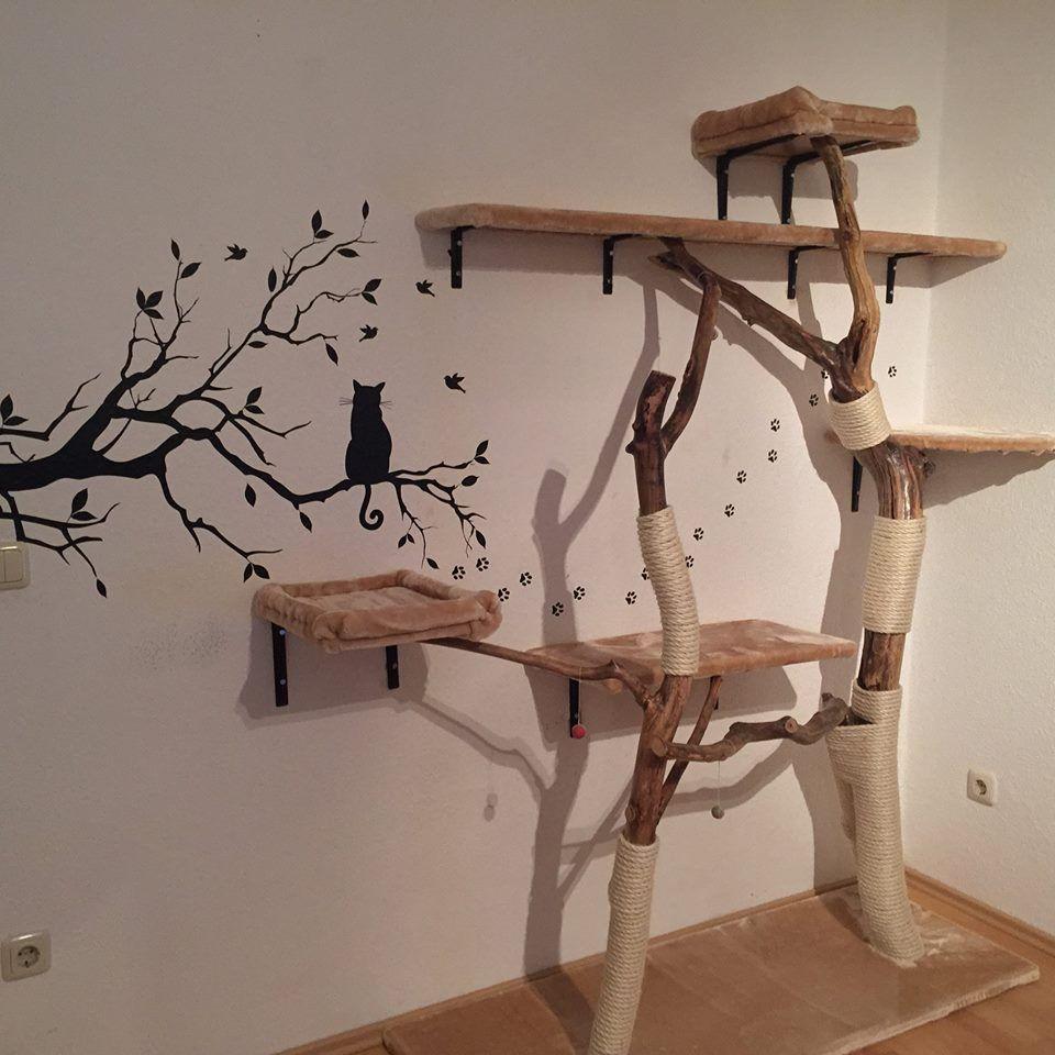 kratzbaum selber bauen2 pinteres. Black Bedroom Furniture Sets. Home Design Ideas