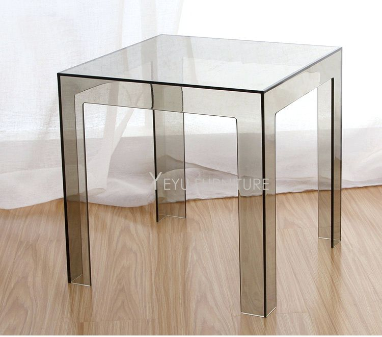 Side Table: Minimalist Modern Design Transparent Polycarbonate Pc Acrylic  Clear Square Side Table Coffee Table Tea Table Simple Design Table Clear  Plastic ...