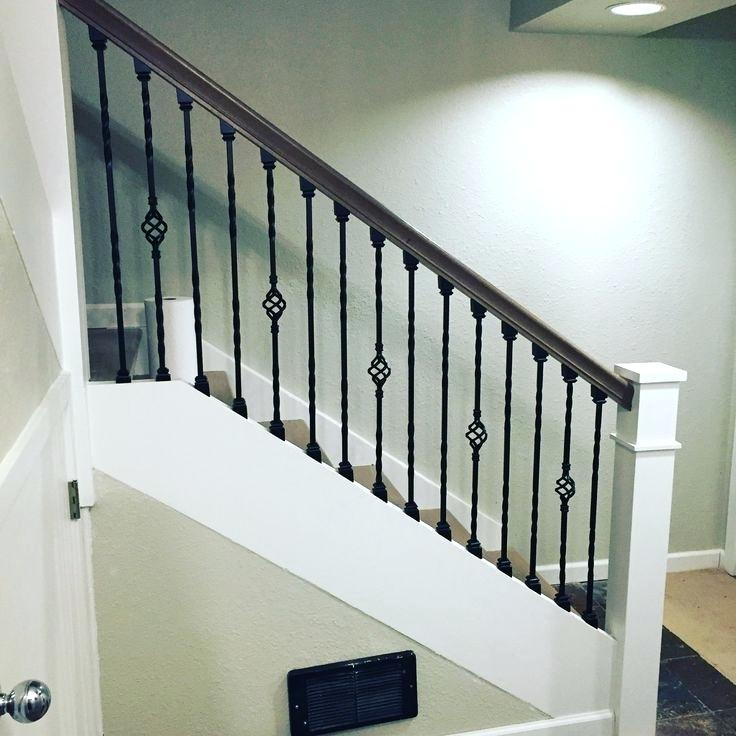 Wrought Iron Stairs Beautiful Stair Railing Designs The Best Ideas | Iron Spindles For Sale | Contemporary | Stair | Balcony | Iron Rod | Wrought Iron